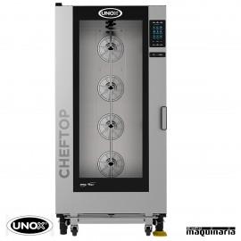 Horno de gas Unox GN 2/1 CHEFTOP digital UNXEVC2021GPR