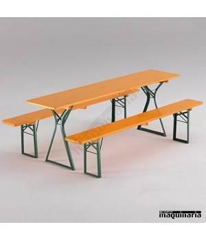 Mesa plegable con bancos de catering COMFORT