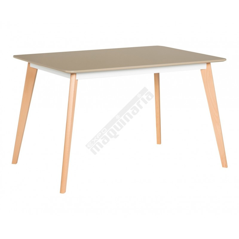 mesa madera hosteleria dl116 con tablero mdf de color blanco