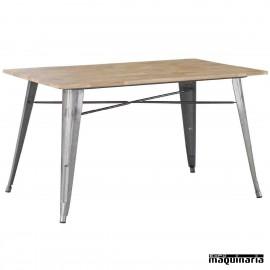 Mesa madera y acero hosteleria DL804M