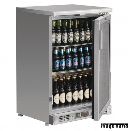 Refrigerador expositor acero inoxidable 104 botellas NICB929