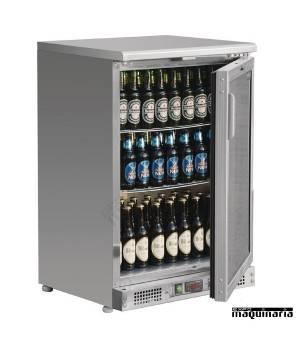 Refrigerador expositor acero inoxidable 104 botellas NICB929
