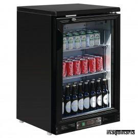 Refrigerador expositor de bar negro puerta cristal 104 botellas NICB929