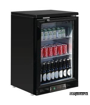 Refrigerador expositor de bar negro 104 botellas NICB929