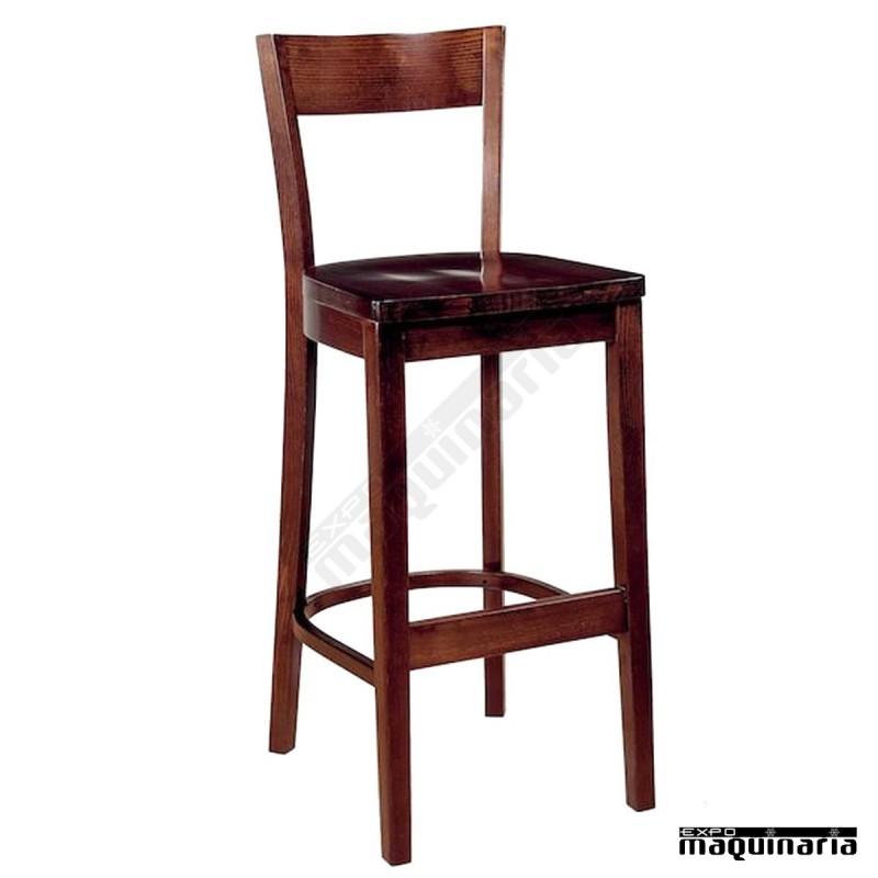 Taburete alto madera de haya im5187 madera de haya y asiento madera - Bancos altos para barra ...
