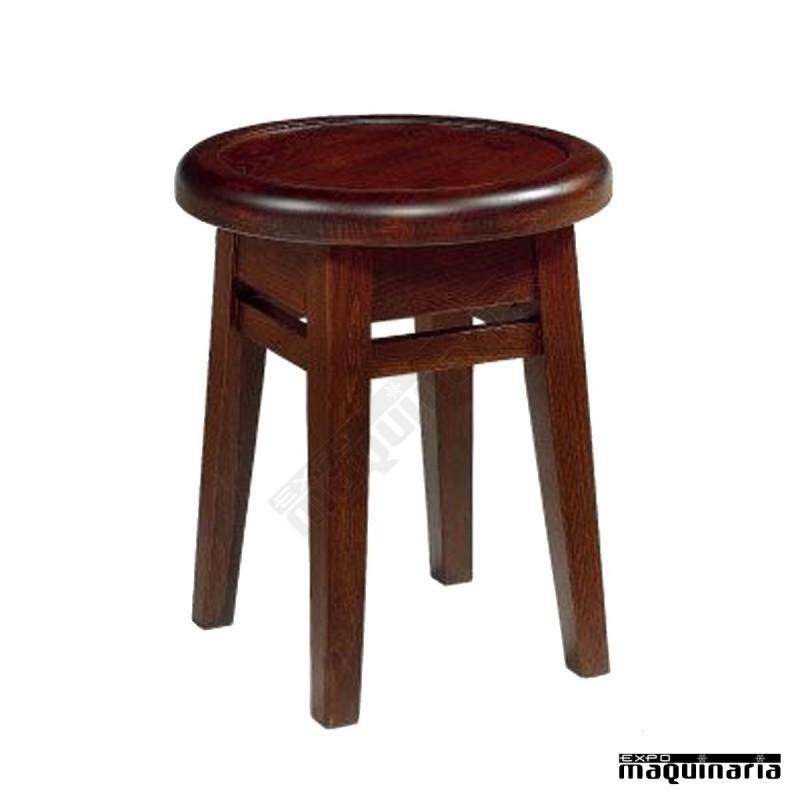 banqueta madera bar im1086 madera de haya clor nogal
