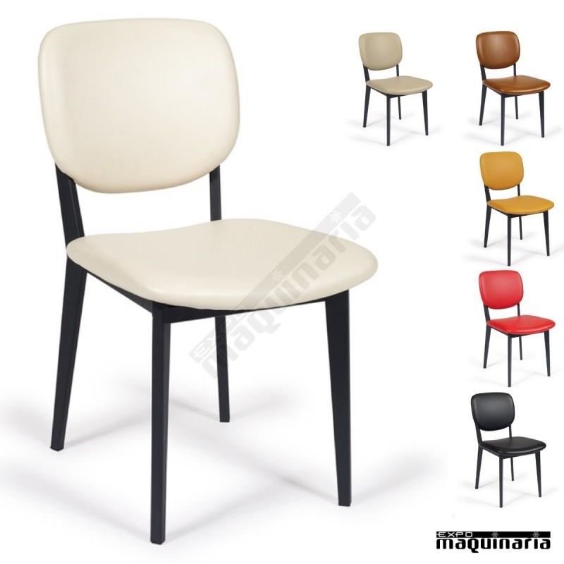 Silla tapizada cafeter a im6625 con estructura de acero pintado - Sillas para cafeteria ...