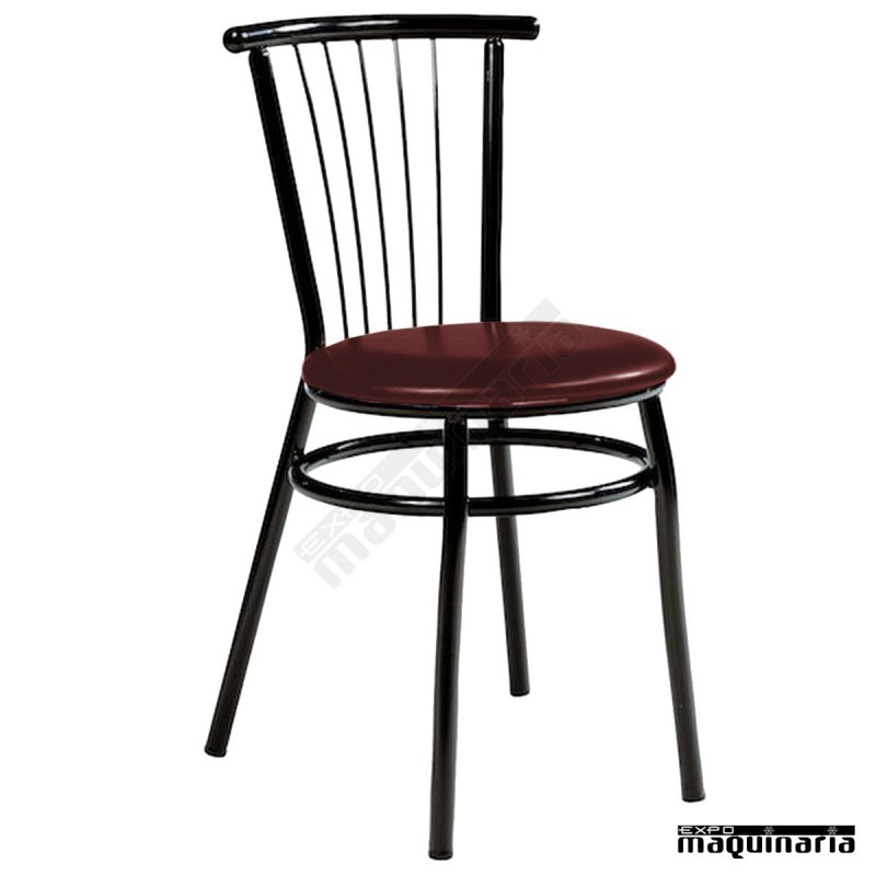 Silla de bar asiento tapizado im145t de estilo cl sico muy for Asientos para sillas