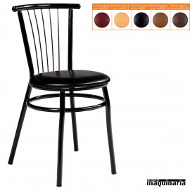 Silla de bar asiento tapizado IM145T colores