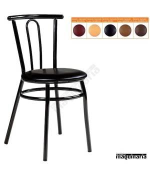 Silla apilable bar asiento tapizado IM162T colores
