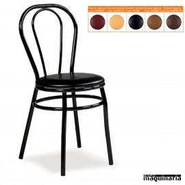 Silla hostelería asiento tapizado IM113T apilable