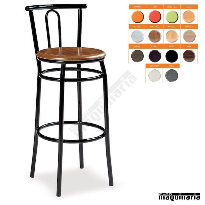 Taburete alto bar asiento solo im132s estilo cl sico muy - Taburetes altos bar ...