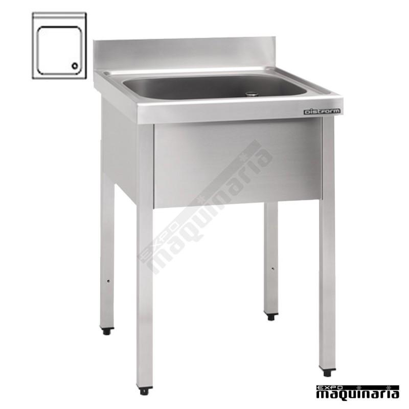 Fregadero hosteleria con bastidor 1 cubeta peto y for Pozas para cocina