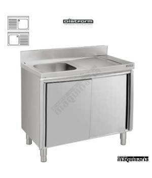 Fregadero con mueble inox 1 cubeta escurridor con puertas - Muebles para fregaderos ...