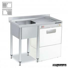 Fregadero con hueco lavavajillas (fondo 60) sin estante
