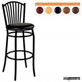 Taburete bar alto asiento tapizado IM180T - negro