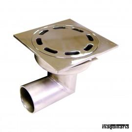 Sumidero sifónico salida horizontal 10x10 cm