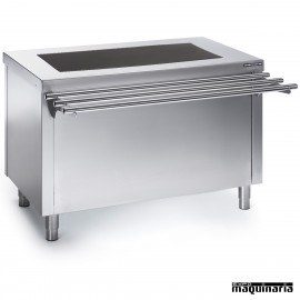 Self service vitrocerámica con reserva caliente