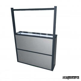 Macetero separador PVC cristal SEPM100PVCC