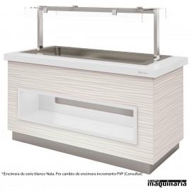 Mesa gastrobuffet cuba fría 170 cm color blanco Nata