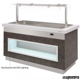 Mesa gastrobuffet baño maría 170 cm