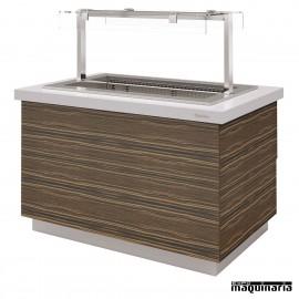 Mesa gastrobuffet cuba fría ventilada