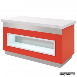 Mesa gastrobuffet neutra con estante