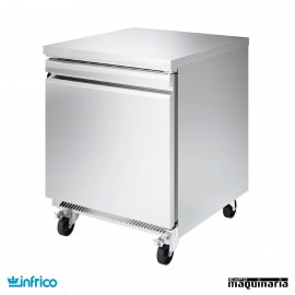Mesa bajo mostrador refrigerada 1 puerta