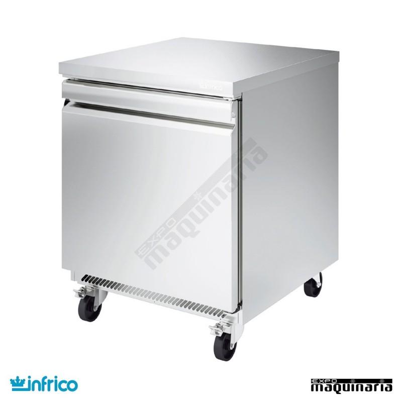 Mesa bajo mostrador refrigerada 1 puerta fabricado en for Encimera inox