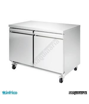 Mesa bajo mostrador refrigerada 2 puertas