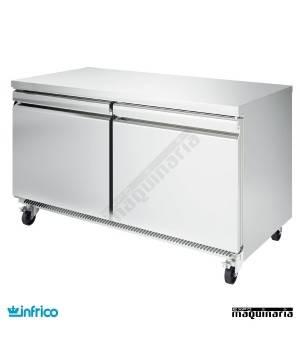 Mesa bajo mostrador refrigerada 153 cm