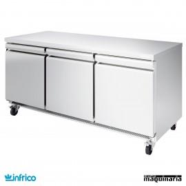 Mesa bajo mostrador refrigerada 184 cm
