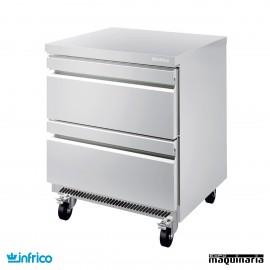 Mesa bajomostrador refrigerador con cajones 70 cm