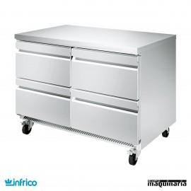 Mesa bajomostrador refrigerada cajones 122 cm