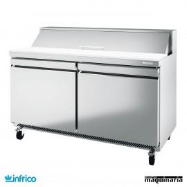 Mesa refrigerada Fast Food ensaladas 153 cm