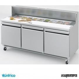 Mesa refrigerada Fast Food ensaladas 184 cm