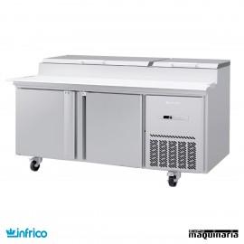 Mesa refrigerada de pizzas 171 cm