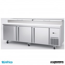 Mesa refrigerada de pizzas 237 cm