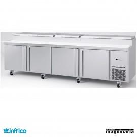 Mesa refrigerada de pizzas 303 cm