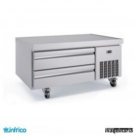 Mesa baja refrigerada cajones 123 cm GN 1/1