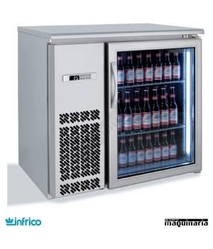 Mesa frente mostrador refrigerado puerta cristal 92 cm
