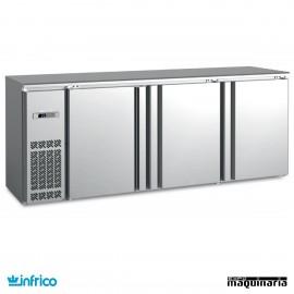 Mesa frente mostrador refrigerado 216 cm