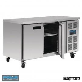 Mesa bajo mostrador congelador 2 puertas