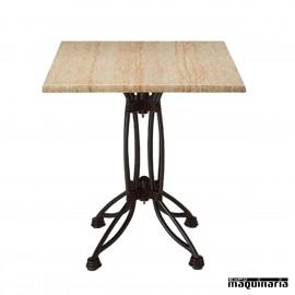 Mesa forja con patas hierro forjado con varios tipos tablero expomaquinaria - Patas de forja para mesas ...