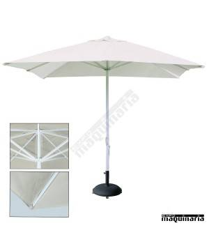 Parasol cuadrado 3x3 metros re a1 aluminio for Recambio tela parasol 3x3