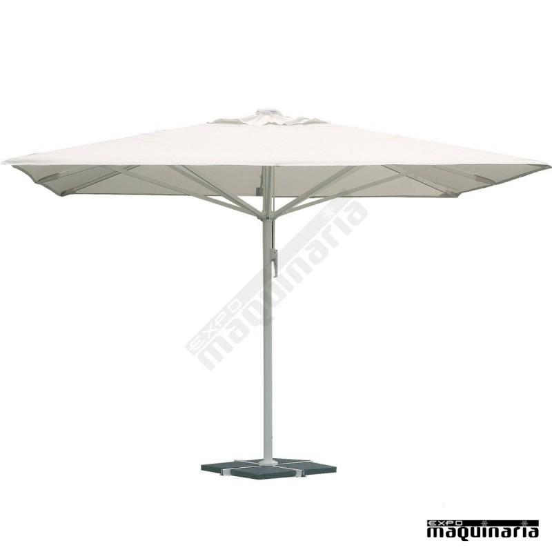 Parasol cuadrado 4x4 metros re a2 aluminio y poliester - Recambio tela parasol ...