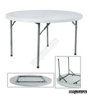 Mesas de catering RE Rossini (121,5 cm) redonda plegable
