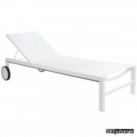 Tumbona de aluminio para hosteleria RESHIO TEXTHILENE