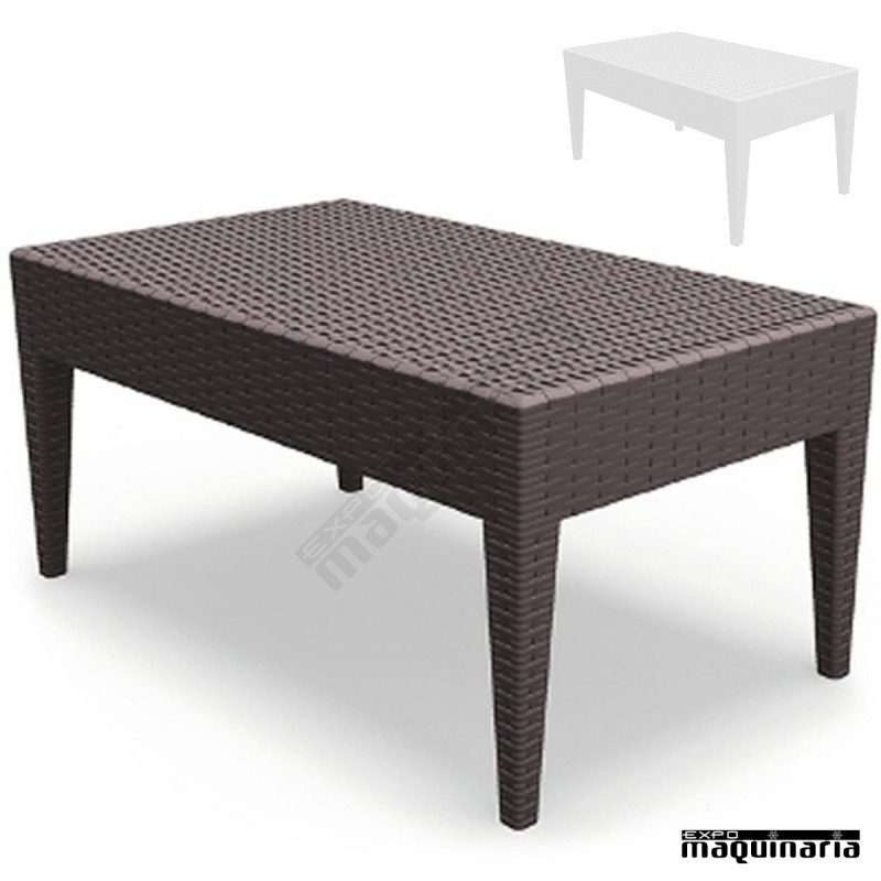 Mesa reipanema baja para sofas de terrazas y hosteleria for Mesas de jardin de plastico