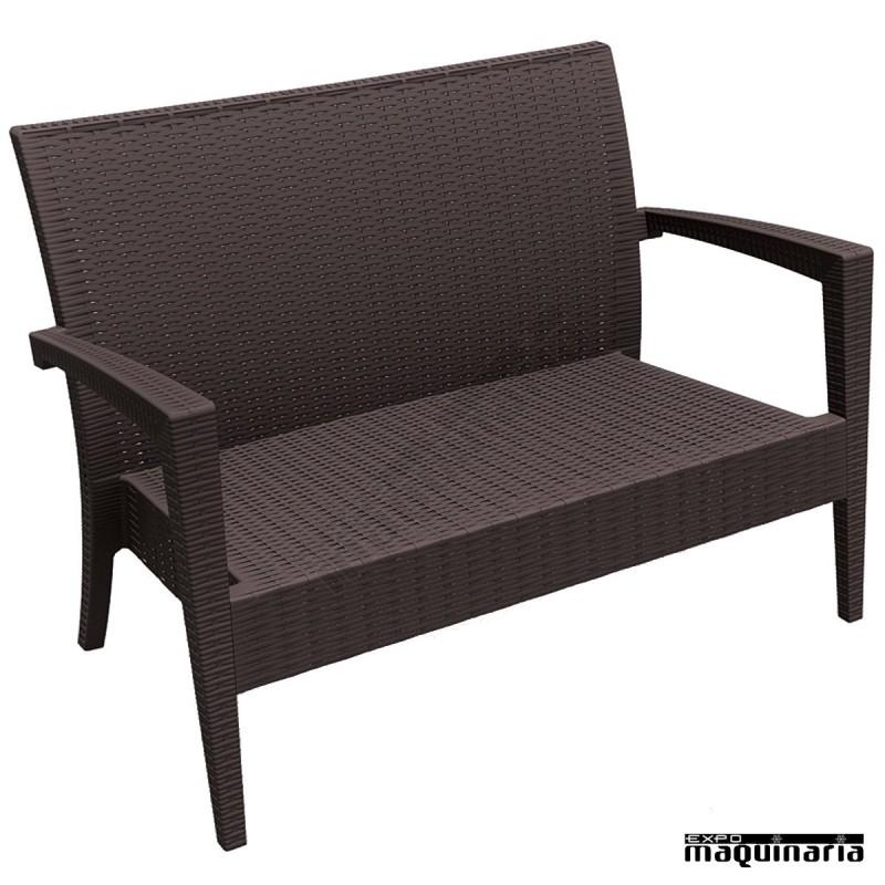 Sof de terraza y hosteleria exterior e interior for Sofa exterior hierro